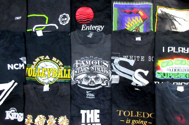 USA古着卸ブラック黒アメカジTシャツ大量セット福袋メンズXLサイズNIKEスカルReebokドクロLOGO 7フリマまとめ売りビンテージ90sベール業販