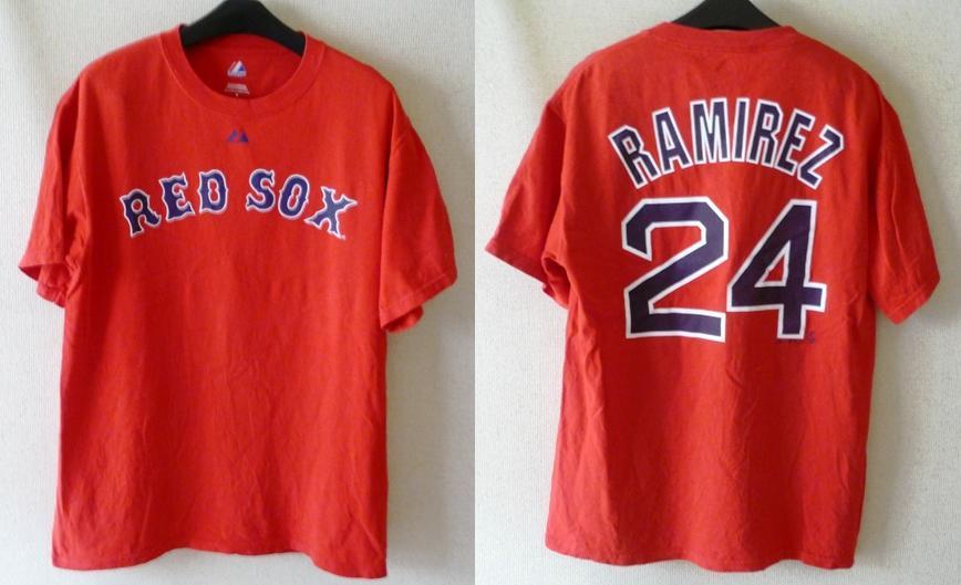 ★SALE★【MLB レッドソックス】#24 RAMIREZ TシャツsizeM グッズの画像