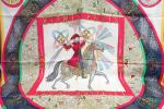 4789 KSB8M 人気 ブランド 服飾小物 スカーフ HERMES エルメス 150周年記念 馬 花 火 FEUXD,ARTIFICE レディース デザイン