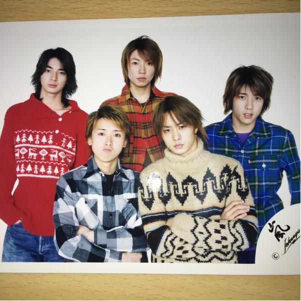嵐 公式写真 公式 写真 レア 初期 2002年 2003年 冬コンサート 冬コン 5人 集合 新嵐 ジャニーズショップ ARASHI グッズ パンフレット
