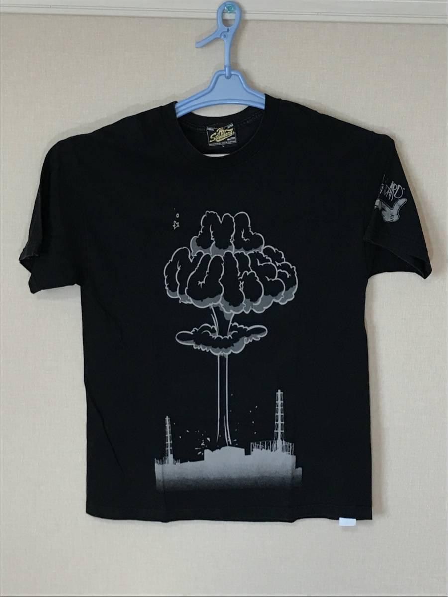 HiSTANDARD ハイスタンダード NO NUKES ノーニュークス Tシャツ 黒L PIZZA OF DEATH ハイスタ used ライブグッズの画像