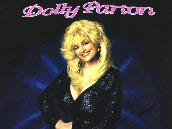 b642★94年ドリー・パートン★DOLLY PARTON★Tシャツ【XL】黒