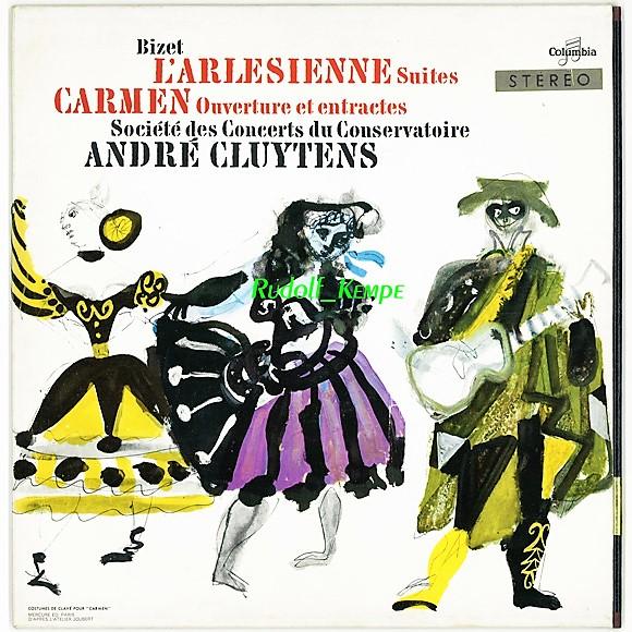 仏Columbia SAXF1000 ビゼー「アルルの女組曲」 クリュイタンス パリ音楽院管