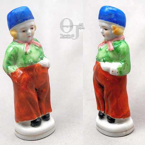 ★オランダの少年 磁器人形 オキュパイドジャパン_画像2