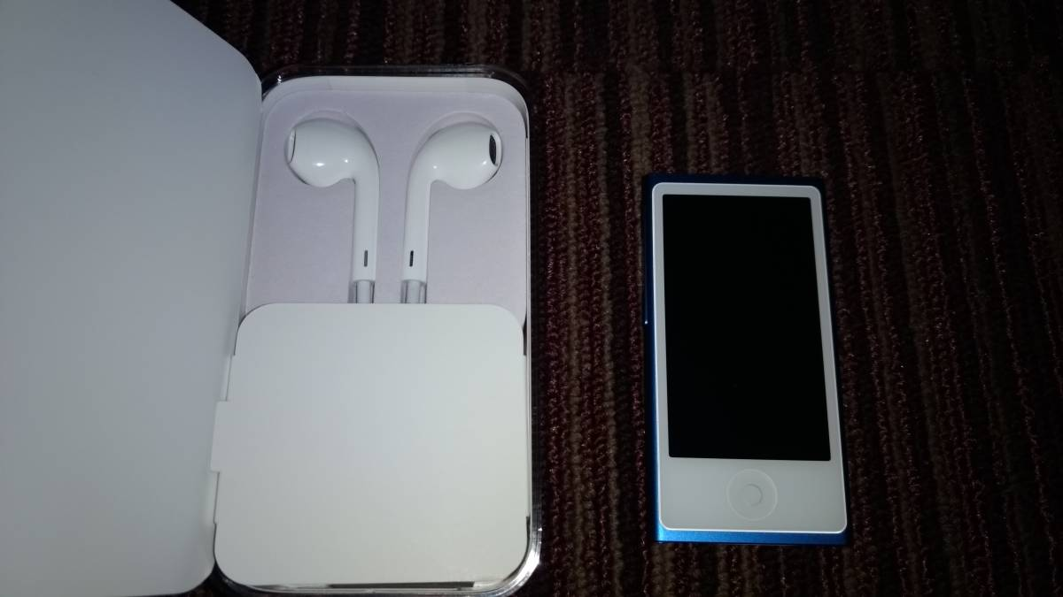 ΩΩ格安美品★アップル Apple iPod nano 16GB ブルー [MKN02J/A] 最新 第7世代_画像2