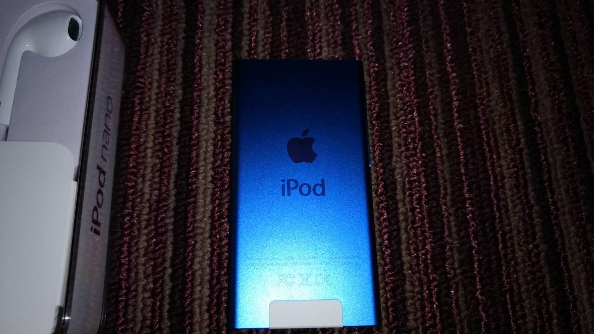 ΩΩ格安美品★アップル Apple iPod nano 16GB ブルー [MKN02J/A] 最新 第7世代_画像3