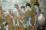 【趣楽】 日本美術 明治時代 武士中国風俗図吉祥紋薩摩大花瓶 高さ60cm 本物保証 N121