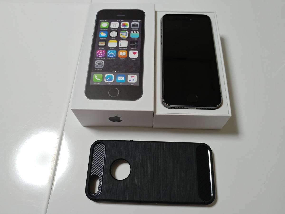 iPhone5s 32GB グレー Y!mobile 2017/5 一括購入 ケース
