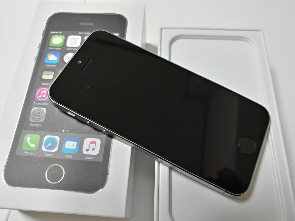 iPhone5s 32GB グレー Y!mobile 2017/5 一括購入 ケース_画像2