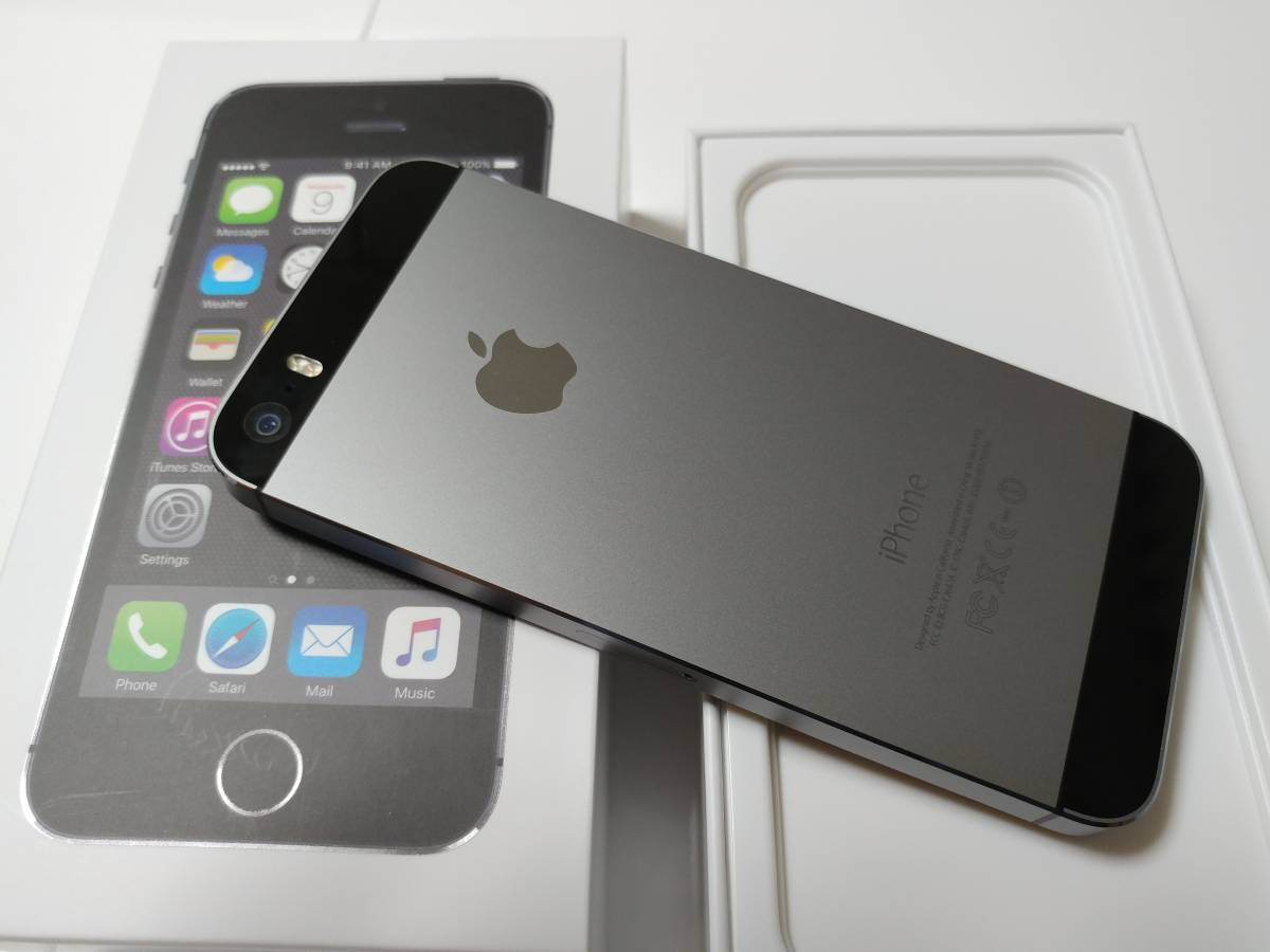 iPhone5s 32GB グレー Y!mobile 2017/5 一括購入 ケース_画像3
