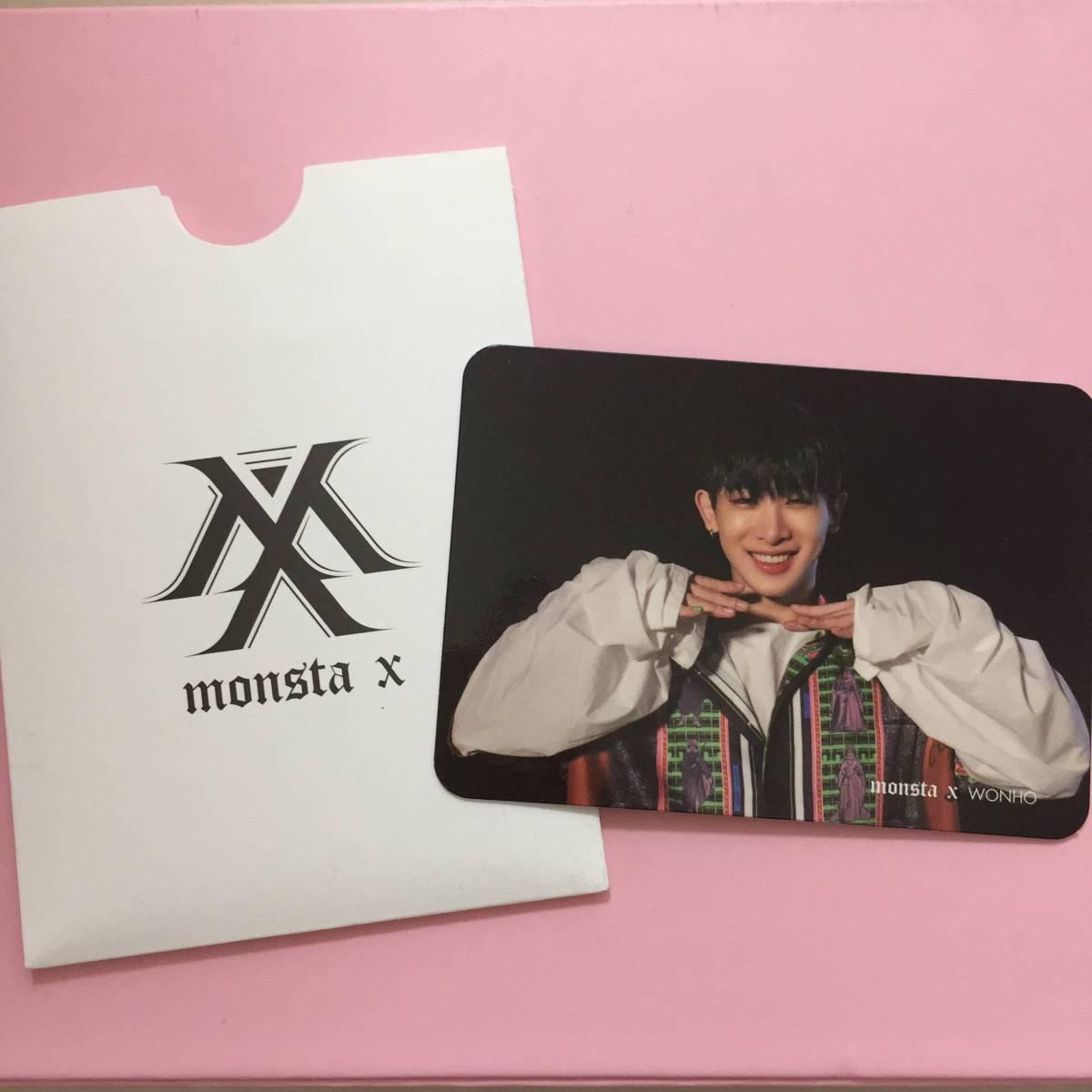 MONSTA X ウォノ 音楽番組収録参加特典 限定 トレカ SHINE FOREVER サノク