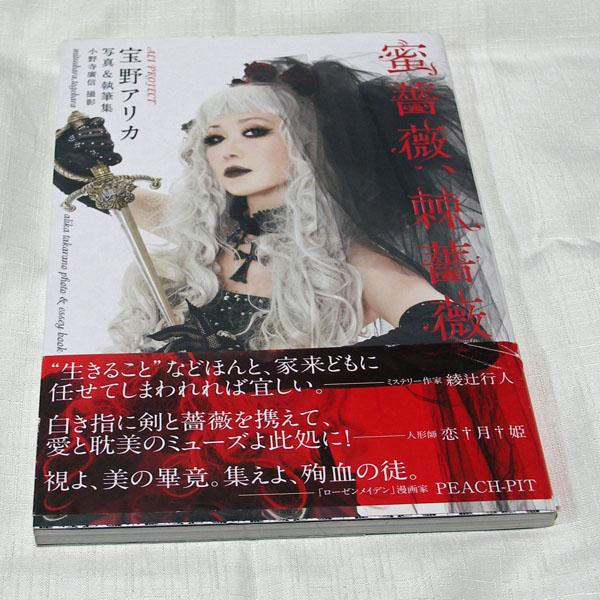 送料164円 蜜薔薇、棘薔薇/宝野アリカ ALI PROJECT  限定ポートレート付きゴスロリ写真集