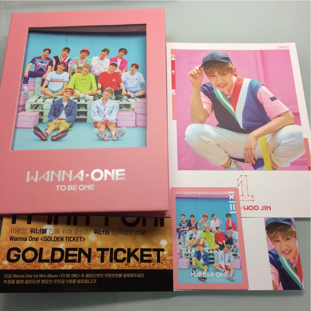 wanna one 1×1=1 pink ver. パク ウジン produce101 ワナワン 韓国