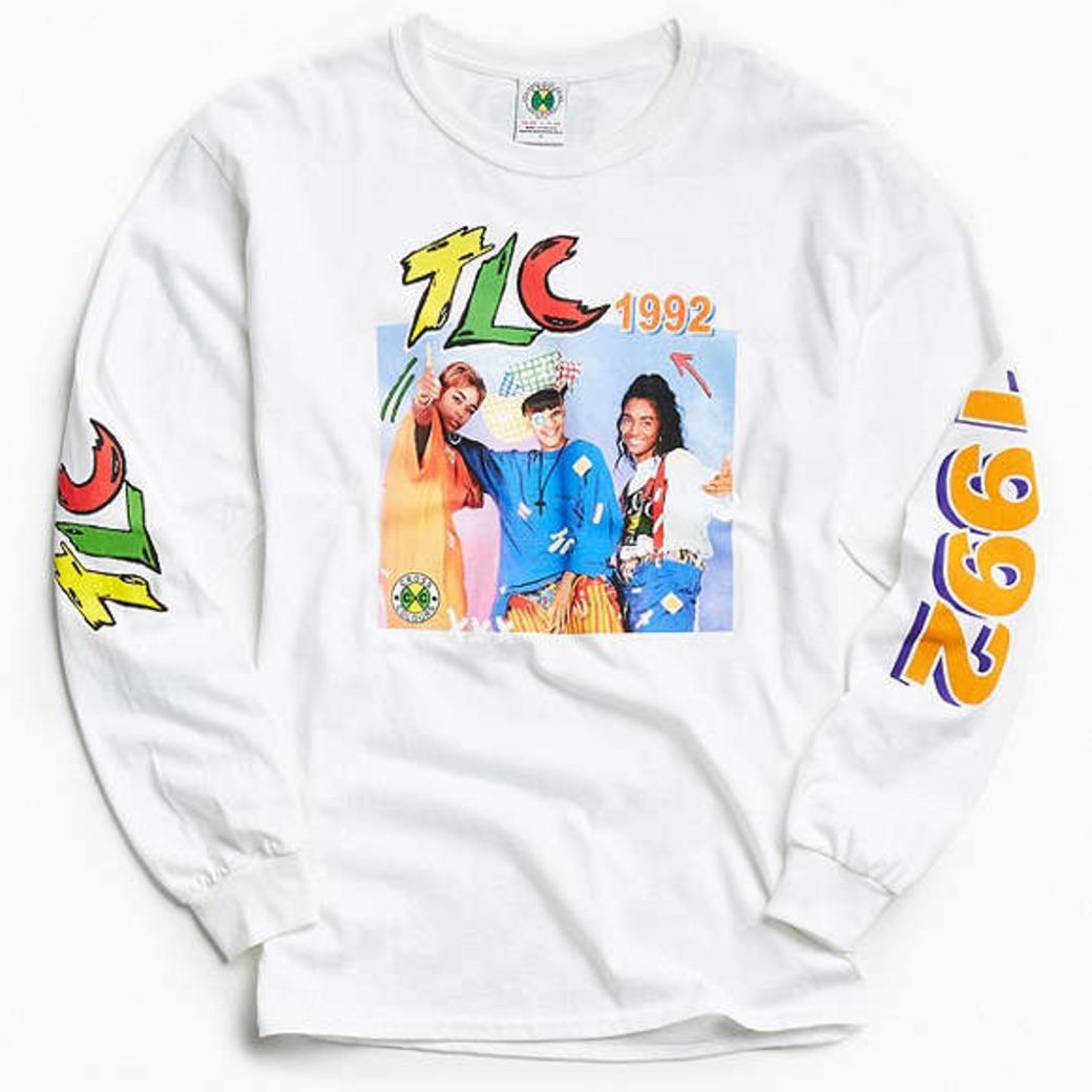 レア TLC ロングスリーヴ Tシャツ CROSS COLOURS BRUNO MARS着用 CARDI B LAURYN HILL 2PAC SNOOP DOGG PABLO カニエ NIRVANA RAP TEE L