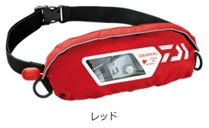 DAIWA DF-2307 ウォッシャブルライフジャケット(ポーチタイプ手動・自動膨張式)レッド