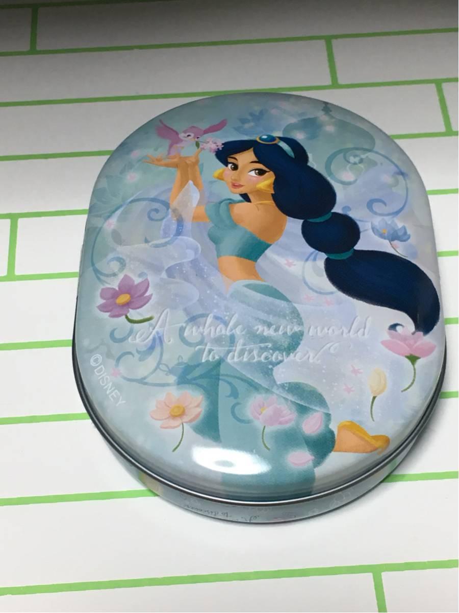 切手可●ディズニーストア 菓子缶 ジャスミン アラジン 缶 ケース 飴菓子● ディズニーグッズの画像