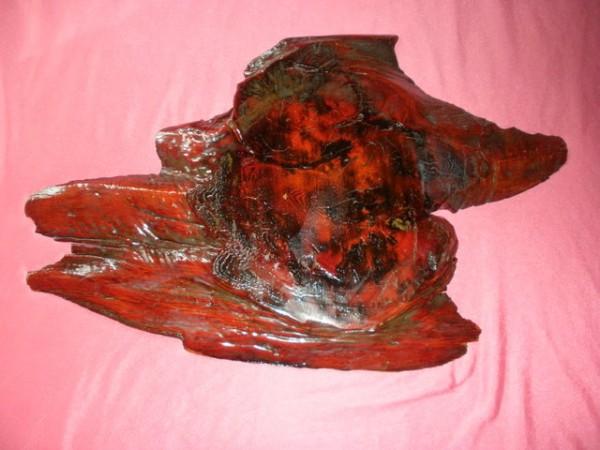 USED 天然木製 台座 ブラウン_画像2