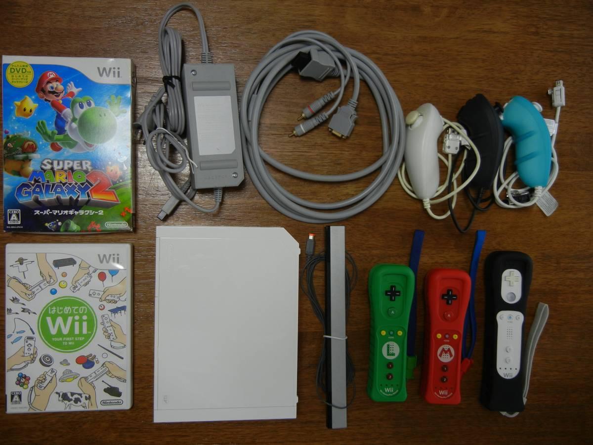 Wii本体 リモコンプラス ( マリオ ルイージ ) ソフトセット