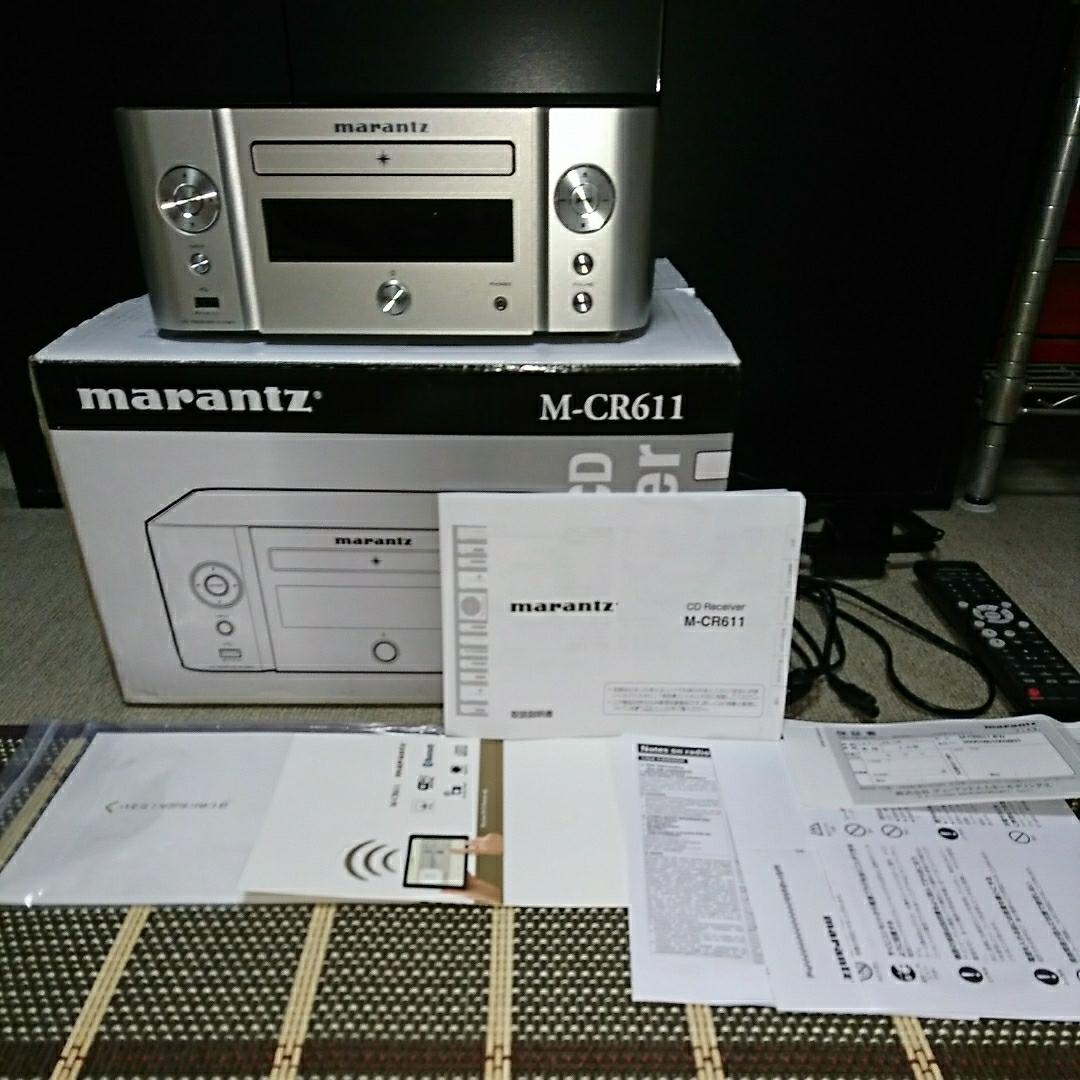 (美品)marantz マランツ ネットワークCDレシーバー M-CR611(Bluetooth 多機能アンプ)