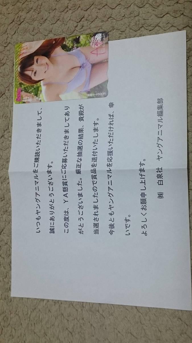 ヤングアニマル懸賞当選品!篠崎愛図書カード500円分