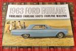 送料無料!旧車 1963 FORD フォード FAIRLANE 500S WAGONS FAIRLANES アメ車 パンフレット カタログ