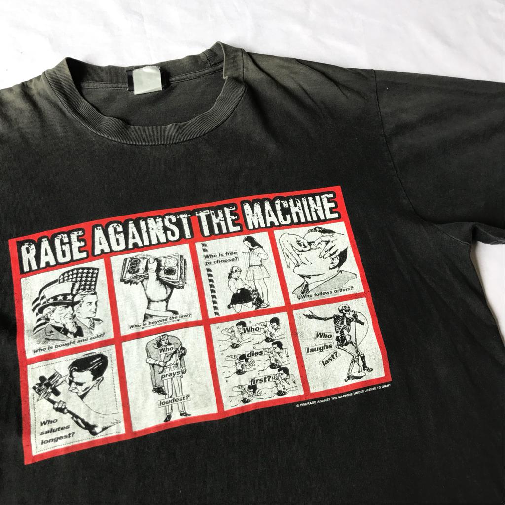 99年 RAGE AGAINST THE MACHINE Barbara Kruger Tシャツ ビンテージ 90s 90年代 レイジアゲインストザマシーン バーバラクルーガー バンド