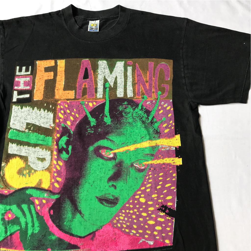 95年 THE FLAMING LIPS ライセンス入り Tシャツ ビンテージ 90s 90年代 フレーミングリップス フレミン オリジナル オルタナティヴ バンド