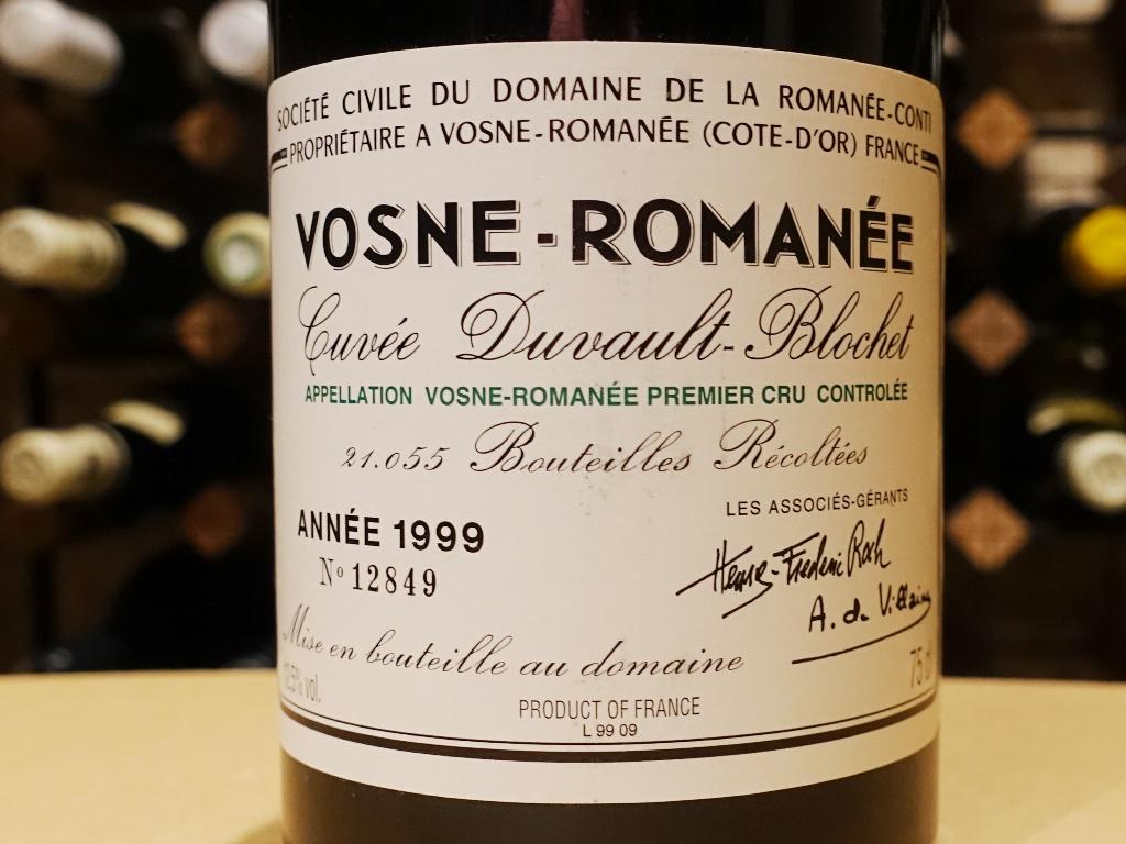 DRC Vosne-Romanee 1er Cru Cuvee Duvault Blochet 1999 送料無料