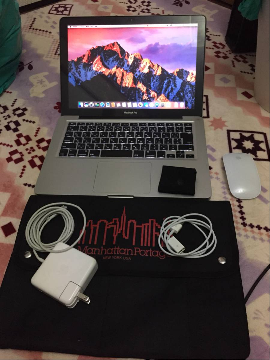 超超美品 macbook pro i7 2.9/16gメモリ/新品250gSSD/13インチ/office mac/電池46回/純正USB延長線/ケース付け
