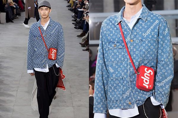 Louis Vuitton × Supreme ルイヴィトン×シュプリーム Jacquard Denim Chore Coat ジャ