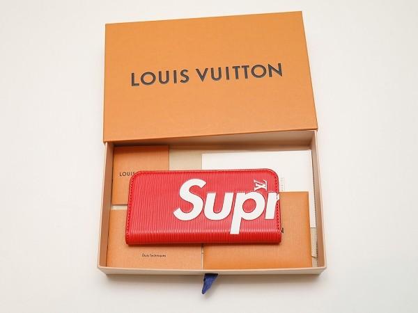 Louis Vuitton × Supreme ルイヴィトン×シュプリーム Folio for iPhone 7 EPI RED フォリオ フォー アイフォーン7 エピ 赤