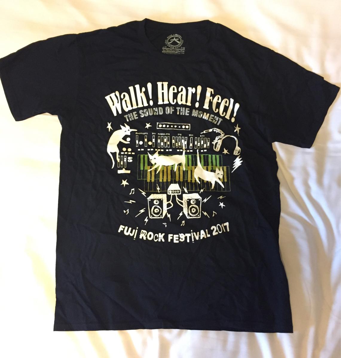 フジロック Tシャツ L 黒 ネコ ライブグッズの画像