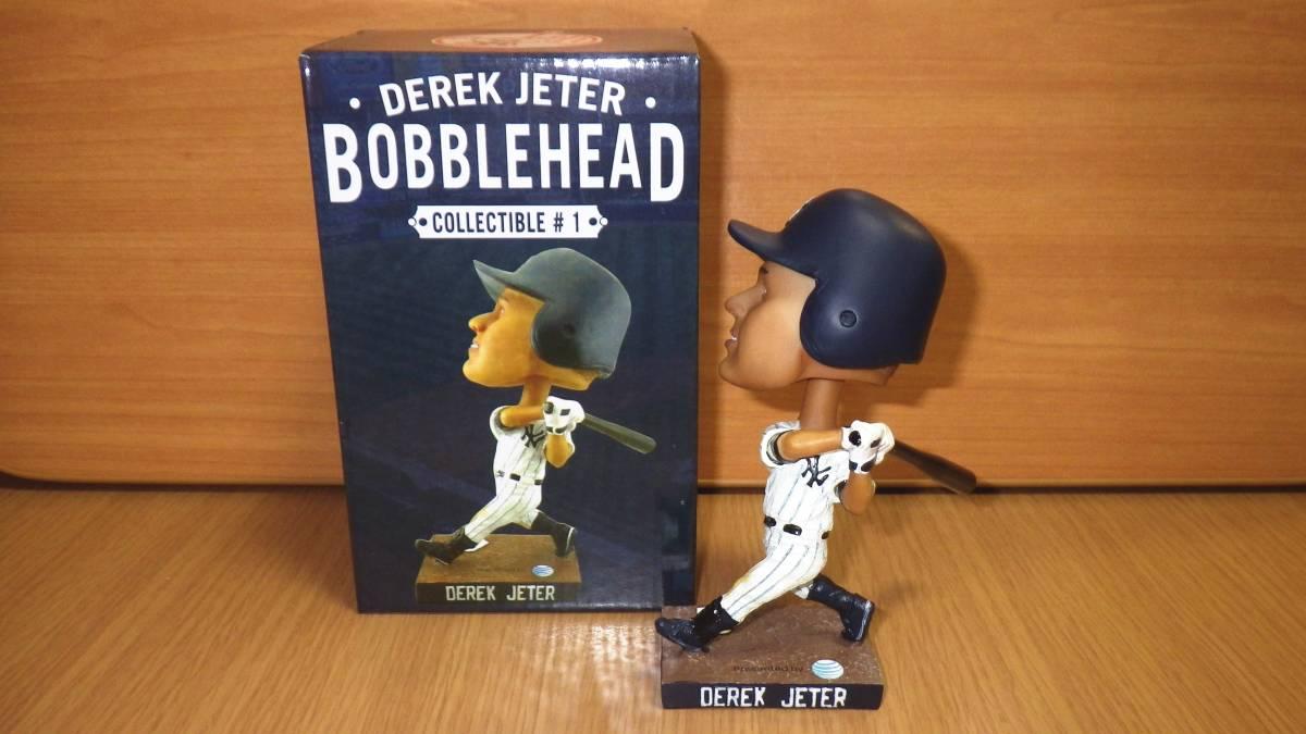 デレク・ジーター バブルヘッド・ボブルヘッド人形 2013年球場配布 ヤンキース グッズの画像
