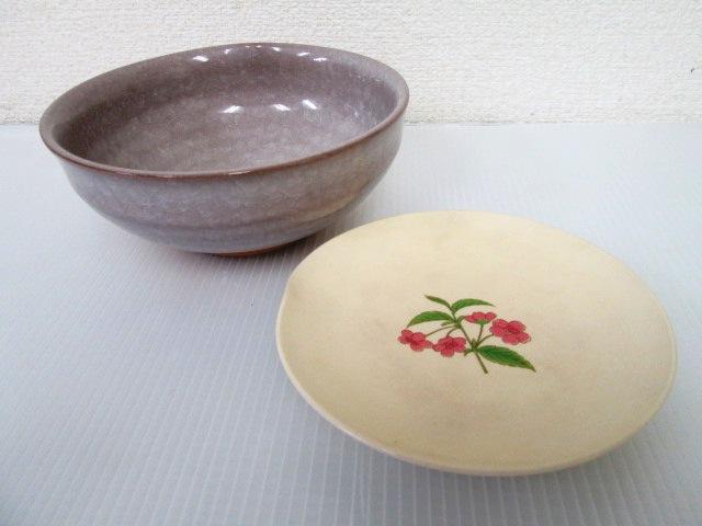 【お買い得!】 ★ たち吉 ★ 菓子鉢 / 花柄のお皿 2点セット 和食器