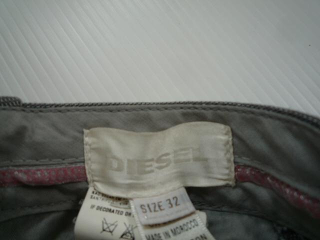 【メンズ】 ■ ディーゼル / DIESEL ■ 総柄パンツ グレー 32_画像3