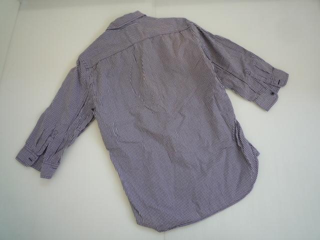 【お得!!】■ギャップ/Gap■ 7分袖シャツ 紫 チェック メンズ XS_画像2