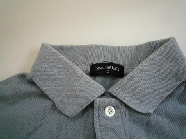 【お得!!】■トランスコンチネンツ/TRANS CONTINENS■ ポロシャツ 薄い水色 半袖 メンズ 2_画像3