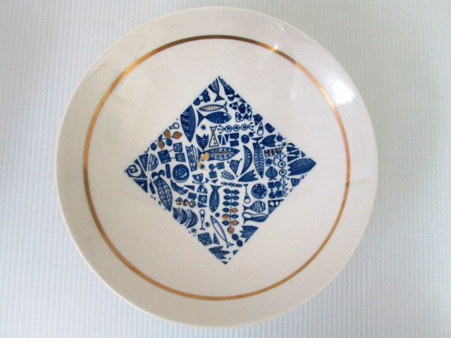【美品】 ★ 日本陶芸チェーン ★ 菓子鉢 大皿 直径24㎝ _画像2