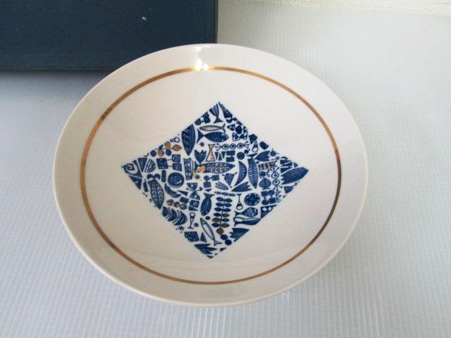【美品】 ★ 日本陶芸チェーン ★ 菓子鉢 大皿 直径24㎝