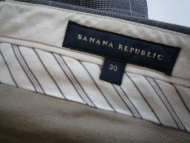 【お買い得!】 ■ バナナリパブリック / BANANA REPUBLIC ■ スラックス グレー系 チェック メンズ 30_画像3