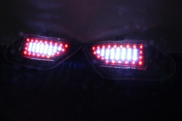 20アルファード ヴェルファイア バックLED  バックフォグ点灯 LEDテール インナーブラック_画像2