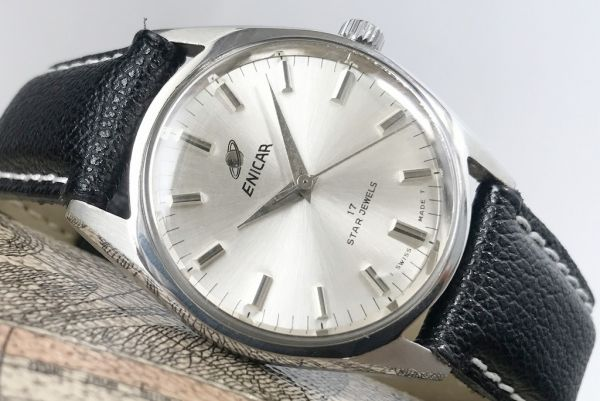 極美品☆エニカ☆ヴィンテージ アンティーク 手巻き メンズ腕時計