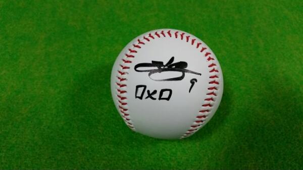 オリックスバファローズ ロメロ選手直筆サインボール グッズの画像