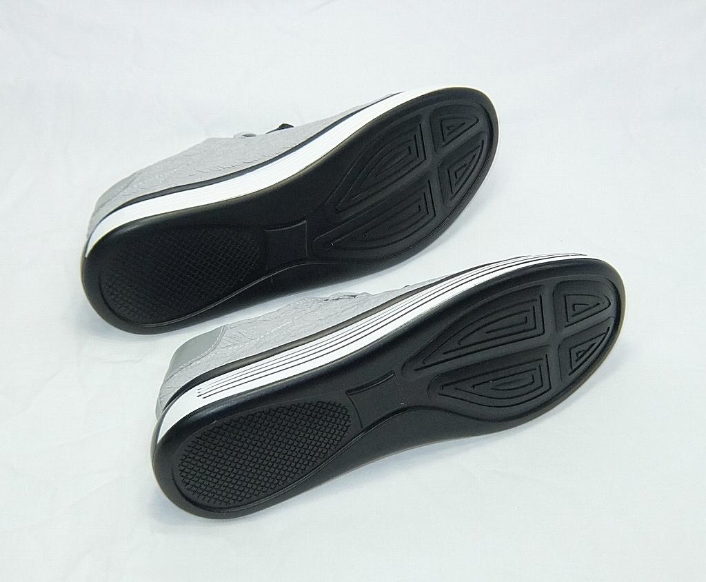 ◆24.5cm~27.0cmグレー系 お洒落なスニーカーシューズ!軽いフィット感!軽量カジュアルスニーカー◆_画像3