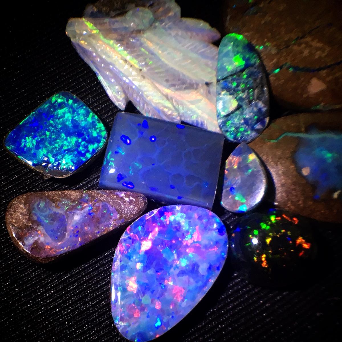 [天然ボルダーオパールおまとめ160ct ]ルース 裸石 opal 宝石