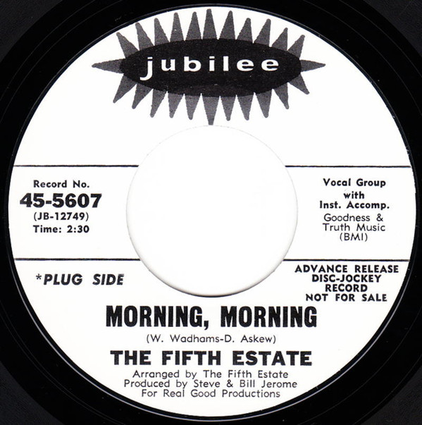 Fifth Estate Morning, Morning / Tomorrow Is My Turn ソフトロック 試聴_画像1