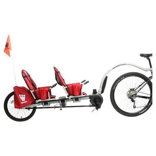 チャイルド トレーラー バイク キャリア ヒッチ トレーラー ファットバイク  サイクル 2人乗り_画像1