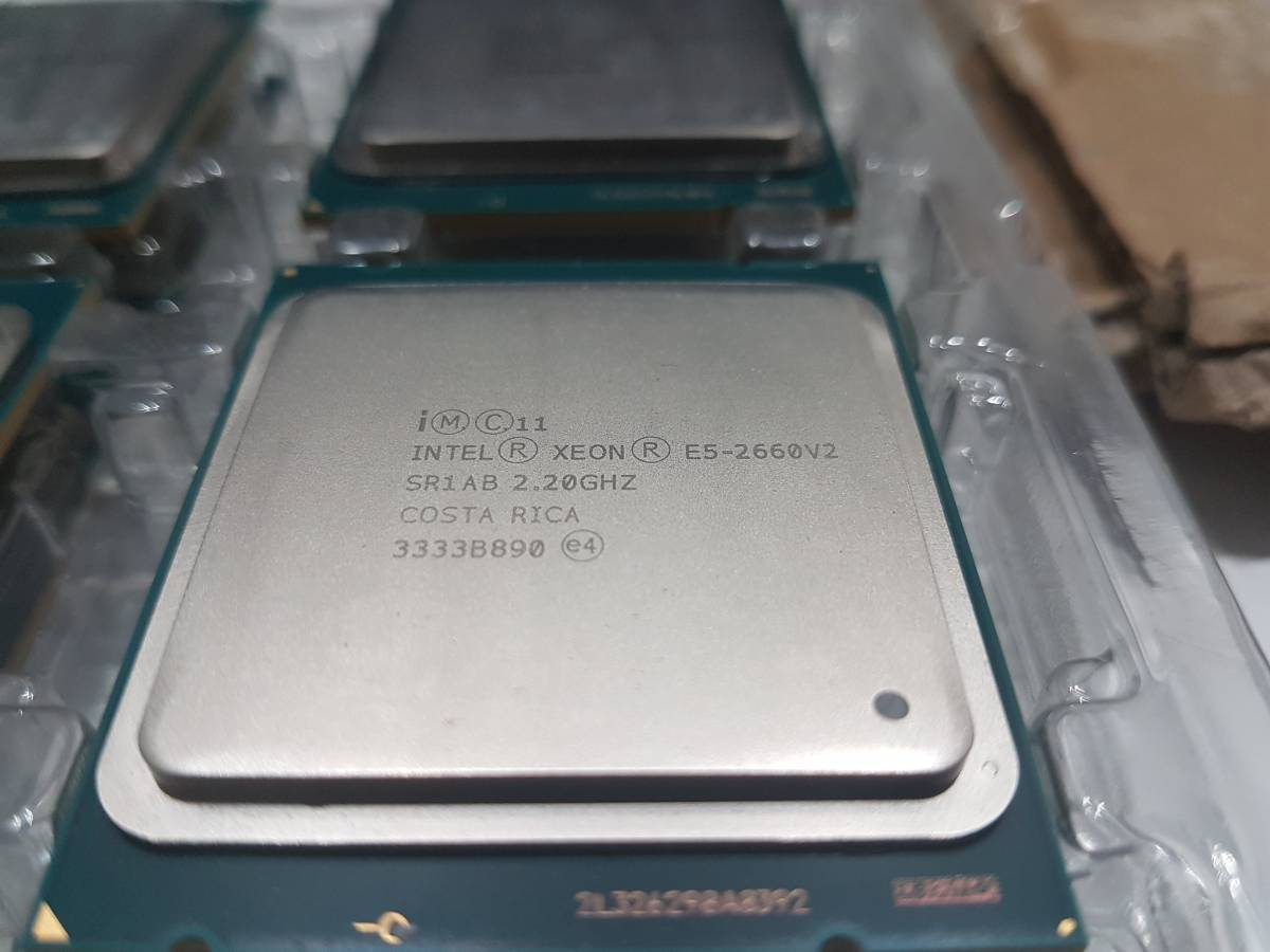 Intel Xeon E5-2660v2 正式版 SR1AB 同じロットもあり 動作確認済み