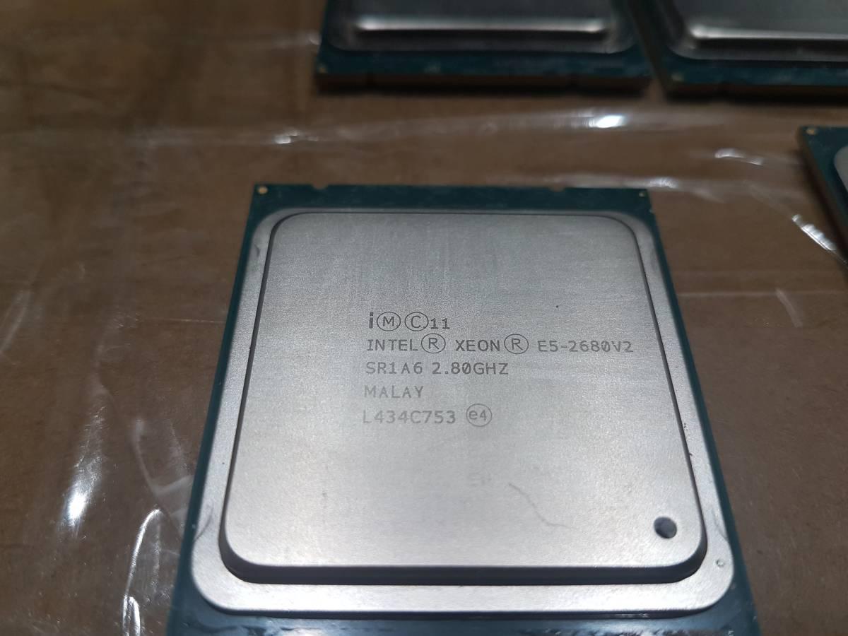 Intel Xeon E5-2680v2 正式版 SR1A6 10C20T 2.8GHz TB 3.6GHz 同じロットもあり 動作確認済み