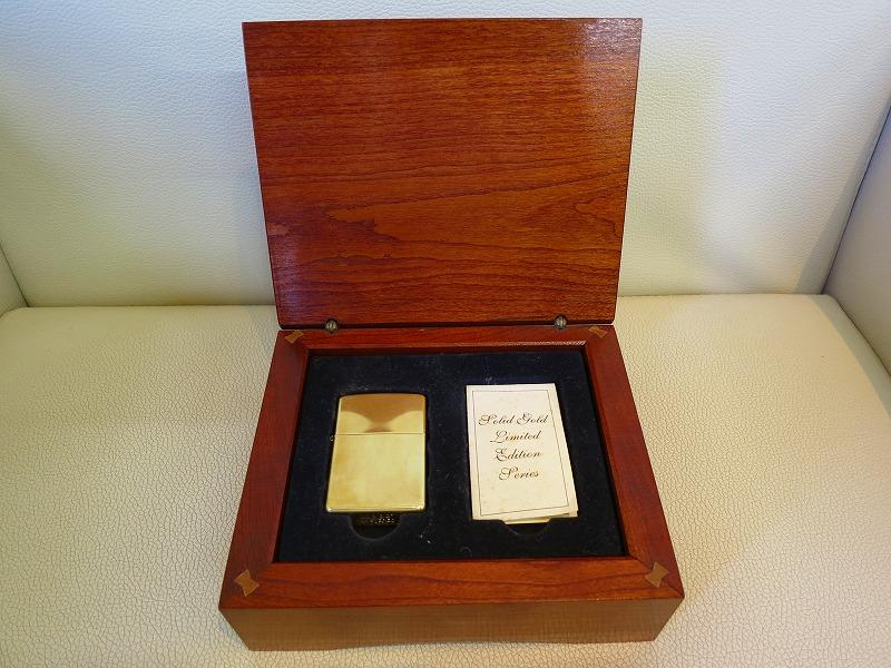 1円 売切 激レア 2005年 05 K18 金無垢 ジッポー zippo リミテッド 木箱付 18K 金高騰中